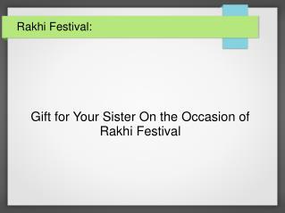 Sisters Rakhi Gift From Infibeam