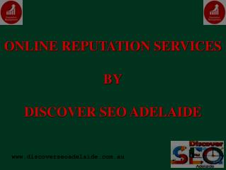 Online Reputation Services in Adelaide.