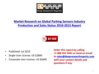 2015 International Parking Sensors Sector Key Manufacturers Analysis Report