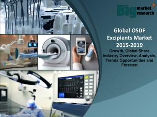 Global OSDF Excipients Market 2015-2019