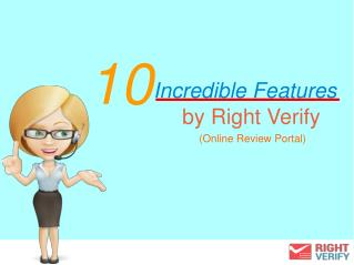 10 Incredible Features of RightVerify