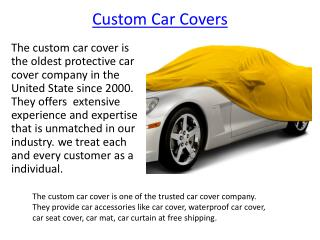 Custom Car Covers