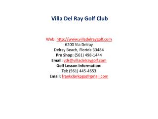 Villa Del Ray Golf Club