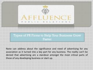 Types of PR Firms to Help Your Business Grow Faster