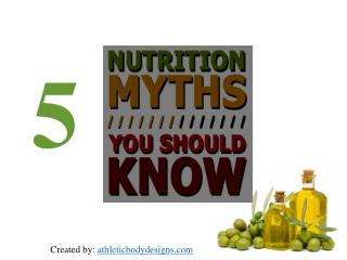 5 myths about nutrition