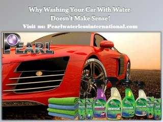 Why Washing Your Car With Water Doesn't Make Sense!