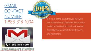 Gmail Contact Number: 1-888-318-1004