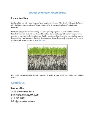 aeration and seeding howard county
