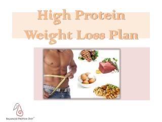 High Protein Weight Loss Plan