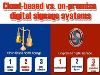On-Premise Digital Signage and Cloud Based Digital Signage Systems