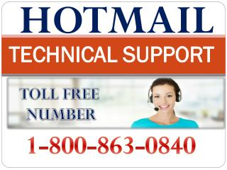 1-800-863-0840 hotmail toll free number