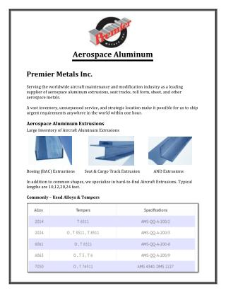 Aircraft Aluminum