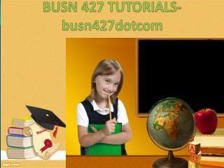 BUSN 427 Tutorials / busn427dotcom