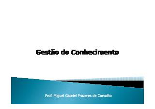 Palestrante- Miguel Gabriel Prazeres de Carvalho
