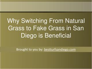 Why Switching From Natural Grass to Fake Grass in San Diego is Beneficial