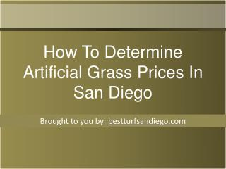 How To Determine Artificial Grass Prices In San Diego