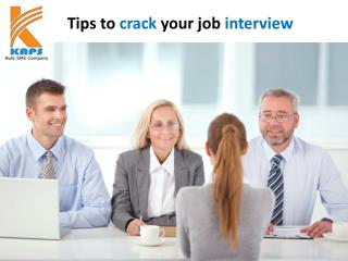Tips to crack your job interview