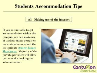 Students accommodation tips