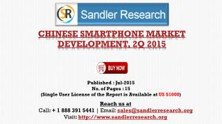 Chinese Smartphone Market Development, 2Q 2015 Growth Analysis by End-user