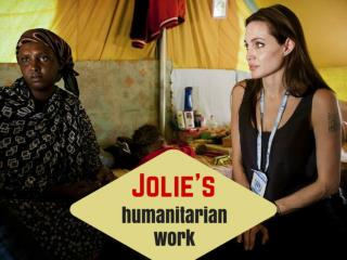 Jolie's humanitarian work