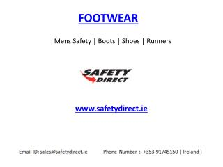 Mens Safety Footwear | Boots | Shoes | Runners www.safetydirect.ie