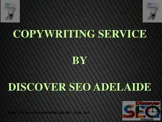 Copywriting Services By Discover SEO Adelaide.