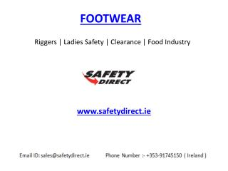 Riggers | Ladies Safety | Clearance | Food Industry Footwear www.safetydirect.ie