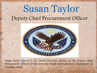 Susan Taylor - Deputy Chief Procurement Officer