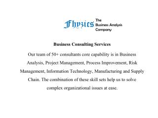 Business Analyst Course at Fhyzics Business Consultant Private Limited