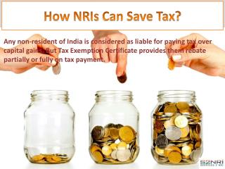 How NRIs can save tax?