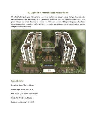 Book Apartments at Rg Euphoria Amar Shaheed Path Lucknow