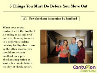 5 Things You MUST Do Before You Move Out