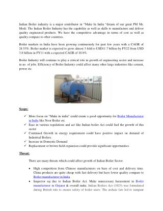 Boiler Manufacturer in India