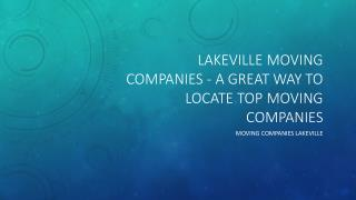 Lakeville moving companies