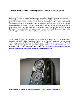 Awesome Audio Speaker System by Technics