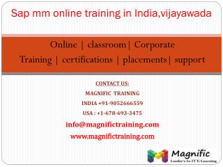 online training classes on sap mm in kolkata,mumbai
