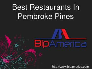 Best Restaurants In Pembroke Pines
