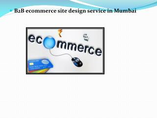 B2B ecommerce site design service in Mumbai