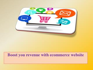 Boost you revenue with ecommerce website