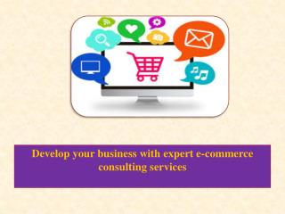 Develop your business with expert e-commerce consulting services