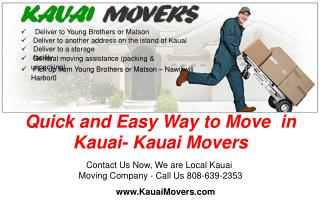 Quick and Easy Way to Move in Kauai- Kauai Movers