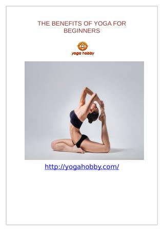 The benefits of yoga for beginners