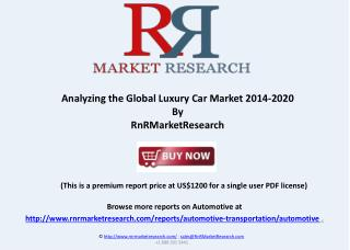 Analyzing the Global Luxury Car Market 2014-2020