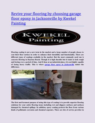 Top Garage Floor Epoxy In Jacksonville