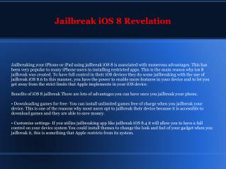 Good Reasons to Upgrade iOS 8 Jailbreak Right Now