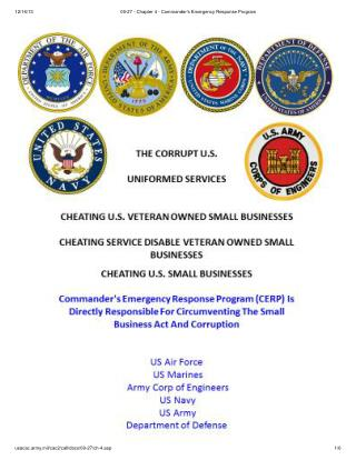 Blog 37 USMC 20150725 09-27 - Chapter 4 - Commander's Emergency Response Program (CERP) Is Directly Responsible For Circ