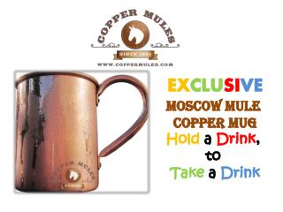 EXCLUSIVE Moscow Mule Copper Mug Hold a Drink, to Take a Drink
