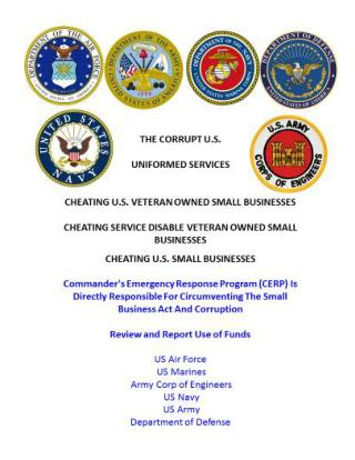 Blog 38 USMC 20150725 11-012 Review and Report Use of Funds - Commander's Emergency Response Program (CERP) Is Responsib