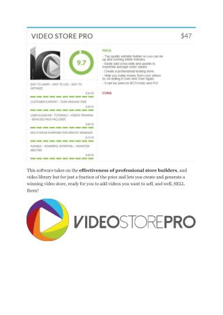 Video Store Pro review - I was shocked! . TRUST review and Download MEGA bonuses of Video Store ProVIDEO STORE PRO REVIE
