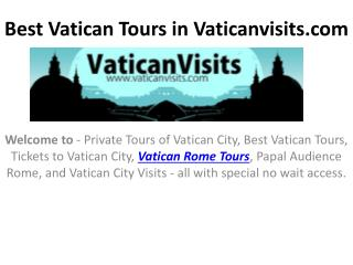 Best Vatican Tours in Vaticanvisits
